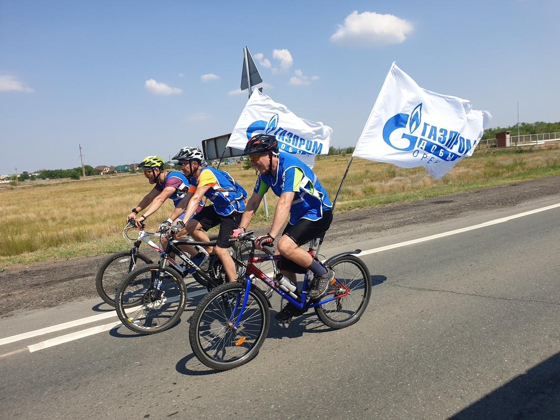 Оренбургские газодобытчики провели велопробег