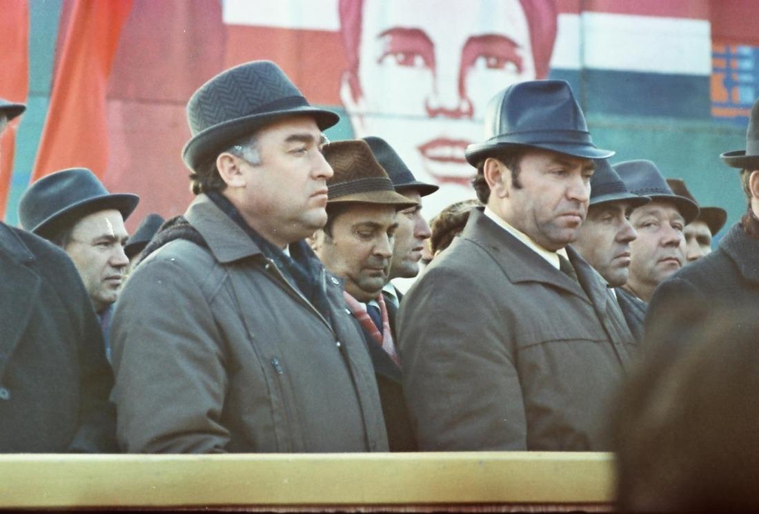 Митинг, посвященный пуску 3-й очереди газоперерабатывающего завода, 1978год