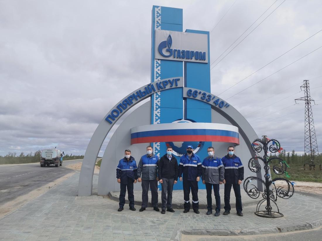 """Фото напамять устелы, символизирующей единство высоких технологий ПАО""""Газпром"""""""